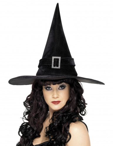 Cappello strega nero donna Halloween