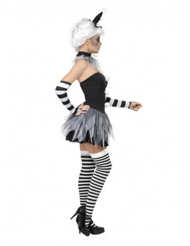Costume sexy da Pierrot Halloween donna-1