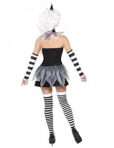 Costume sexy da Pierrot Halloween donna-2