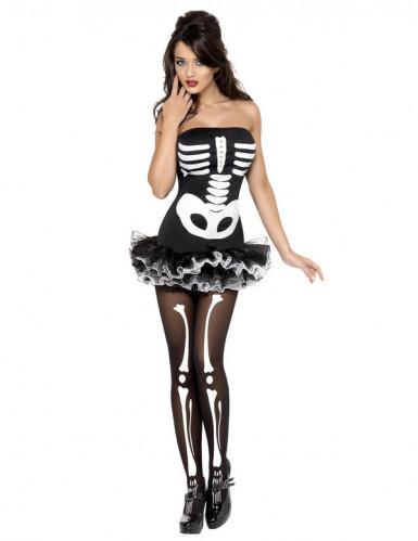 Costume da scheletro sexy donna Halloween-1