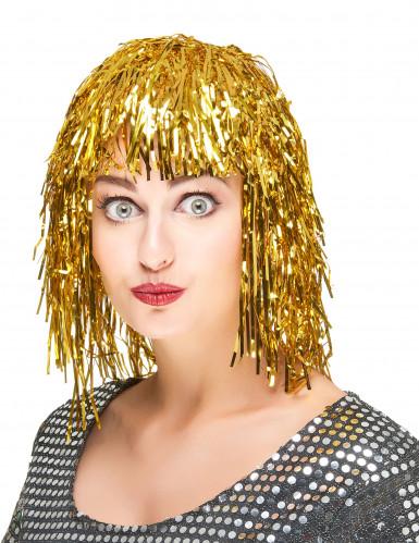 Parrucca oro metallizzato adulti