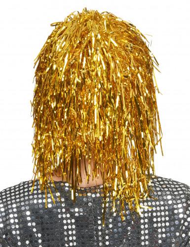 Parrucca oro metallizzato adulti-1