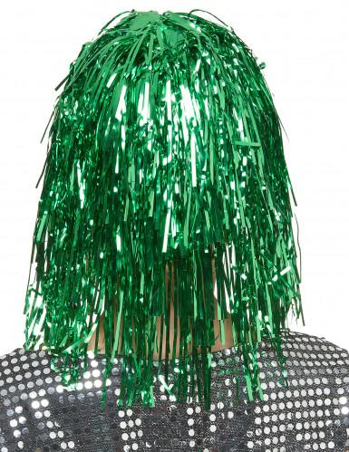 Parrucca verde metallizzato donna-1