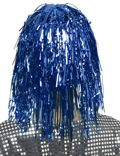 Parrucca blu metallizzato adulti-1