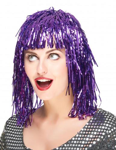 Parrucca viola metallizzato adulti