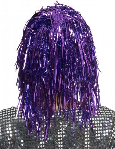 Parrucca viola metallizzato adulti-1
