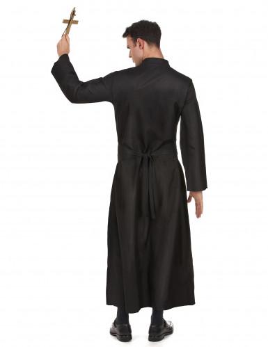 Costume prete con croce bianca uomo-2