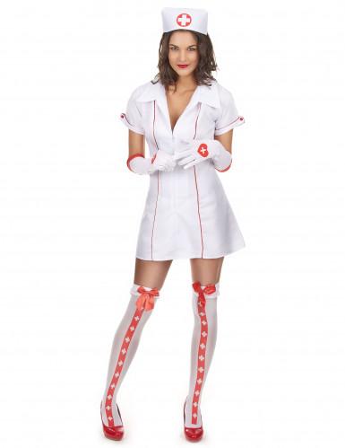 Costume maniche corte da infermiera sexy donna