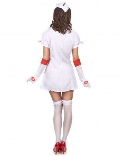 Costume maniche corte da infermiera sexy donna-2