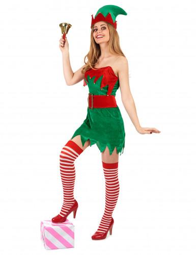 Costume elfo sbarazzino di Natale donna-1