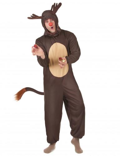 Costume da renna per adulti Natale