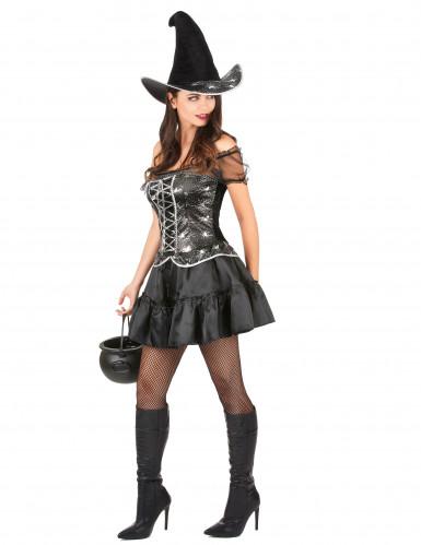 Costume da strega sexy con ragnatele per donna-1