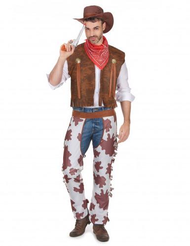 Costume cowboy con gambali da uomo