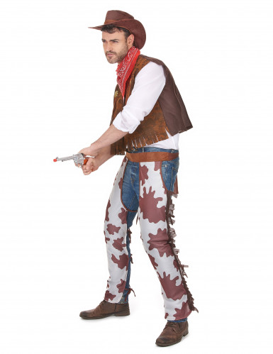 Costume cowboy con gambali da uomo-1