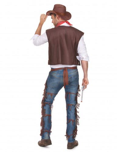 Costume cowboy con gambali da uomo-2