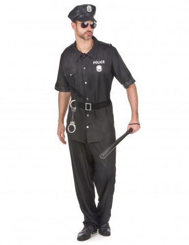 Costume poliziotto piedi piatti per uomo
