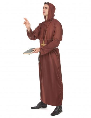Costume da frate francescano per uomo-1