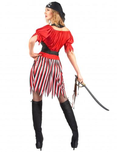 Costume pirata con gonna a righe donna-2