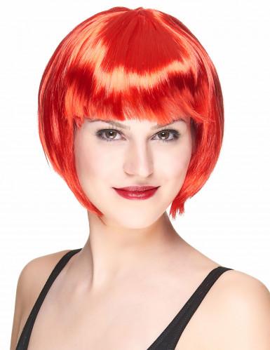 Parrucca corta rossa donna