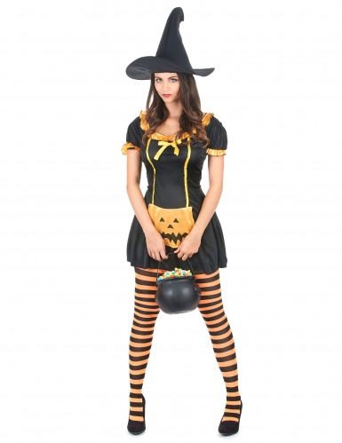 Costume strega zucca donna Halloween