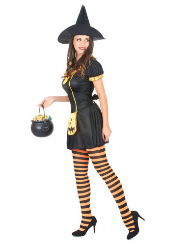 Costume strega zucca donna Halloween-1