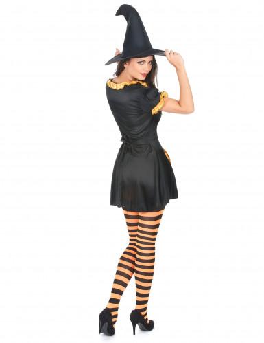 Costume strega zucca donna Halloween-2