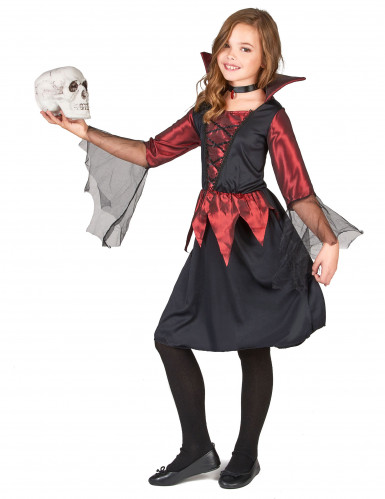 Costume vampiro della notte per bambina-1