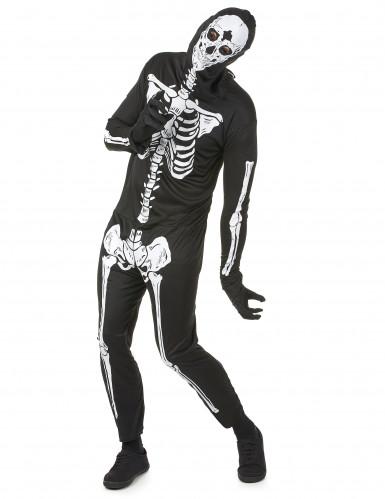 Costume terrificante da scheletro uomo Halloween