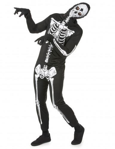 Costume terrificante da scheletro uomo Halloween-1