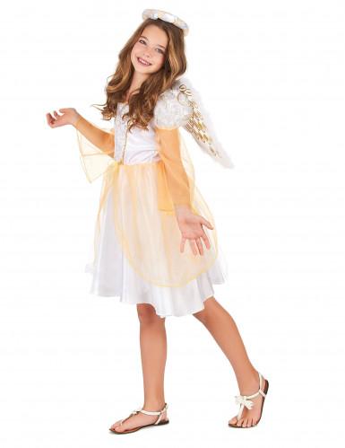 Costume angelo con ricami dorati per bambina-1