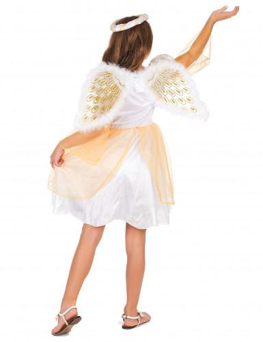 Costume angelo con ricami dorati per bambina-2