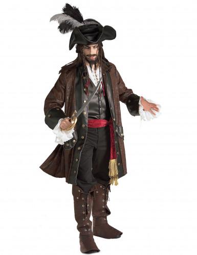Costume pirata dei Caraibi lusso uomo