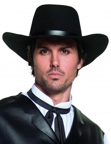 Cappello da cowboy nero lusso adulto