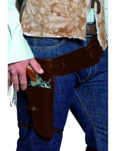 Cinturone da bandito del west con fodero adulto