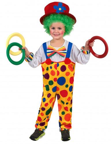 Costume da clown a pois bambino