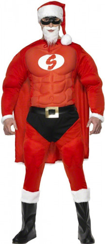 Costume Babbo Natale muscoloso uomo