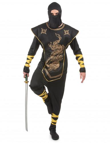 Costume ninja uomo con motivi dorati
