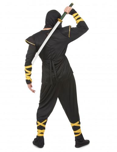 Costume ninja uomo con motivi dorati-2
