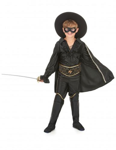 Costume giustiziere mascherato con mantello bambino