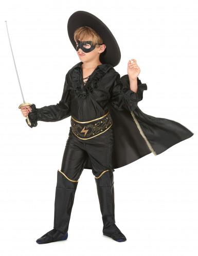 Costume giustiziere mascherato con mantello bambino-1