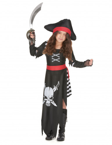 Costume pirata con gonna lunga per bambina