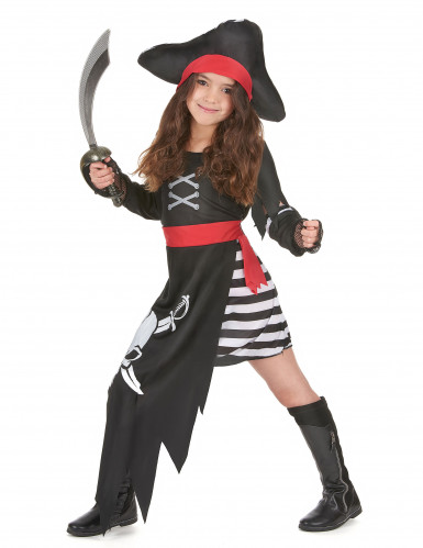 Costume pirata con gonna lunga per bambina-1