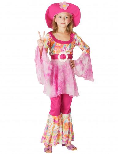 Costume hippie rosa bambina