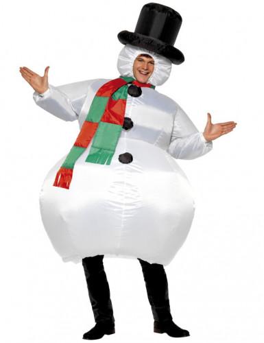 Costume pupazzo di neve gonfiabile adulto