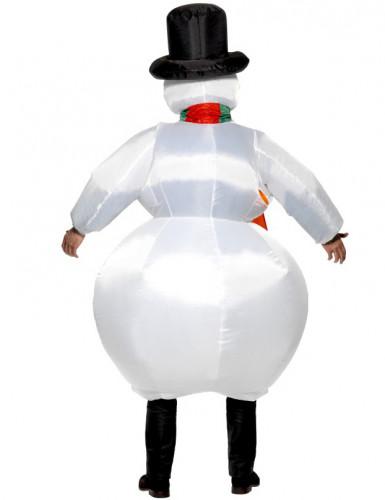 Costume pupazzo di neve gonfiabile adulto-1