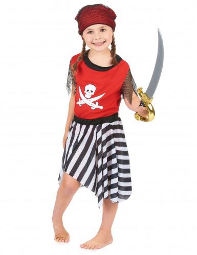 Costume pirata all'arrembaggio bambina