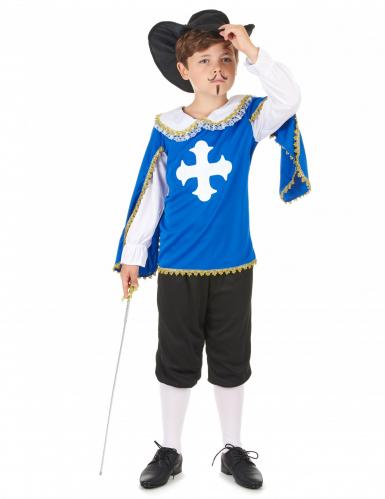 Costume moschettiere blu bambino
