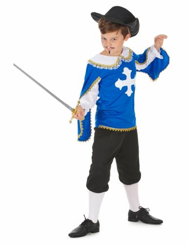 Costume moschettiere blu bambino-1