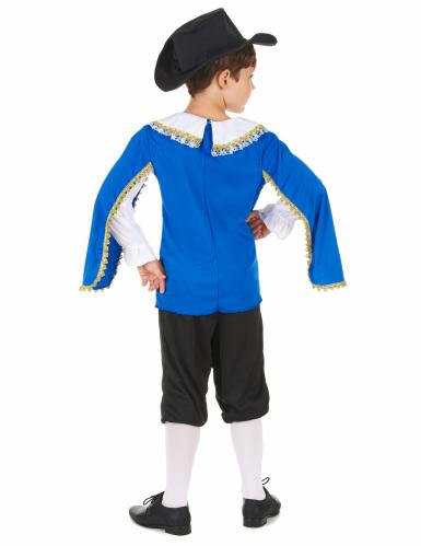 Costume moschettiere blu bambino-2