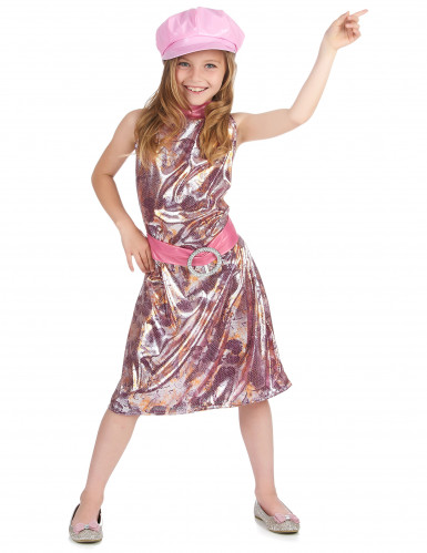 Costume disco rosa flash bambina